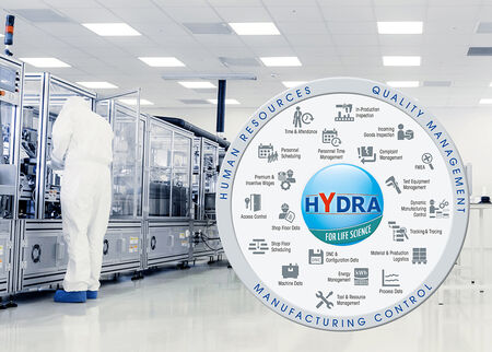MPDV's solution HYDRA for Life Science offers a wide range of standard functions for regulated manufacturing companies.