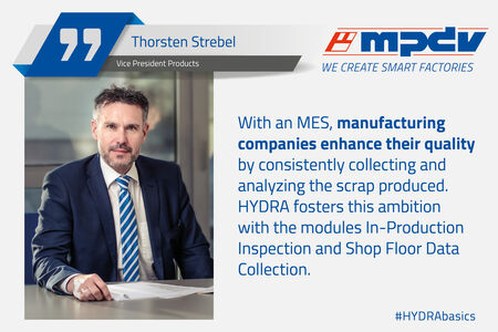 Expert statement of Thorsten Strebel, Vice President Products at MPDV about quality enhancement.